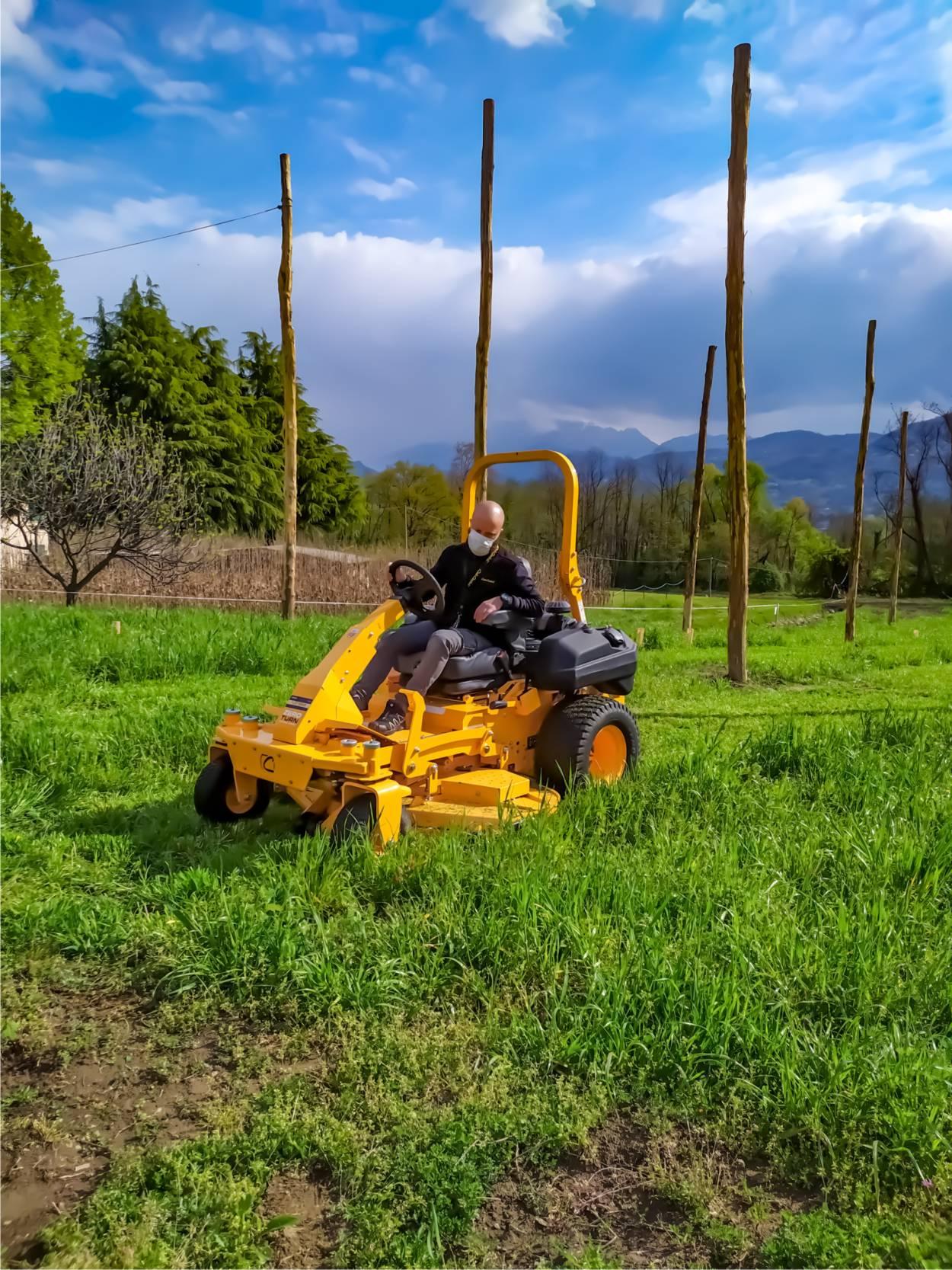 taglio erba trattorino