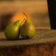 due pere sane senza insetti